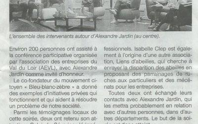 """Ouest-France du 14/05/16 – """"Alexandre Jardin retient deux initiatives locales"""""""