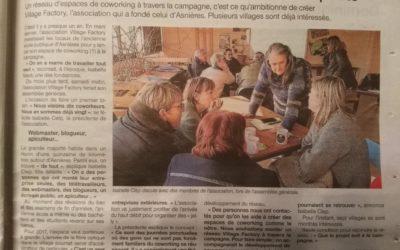 """Maine Libre 01/17 – """"En 2017, le Village Factory veut faire des petits"""""""