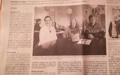 """Ouest-France du 2/11/17 – """"Ils vont apprendre à fabriquer une imprimante 3D"""""""