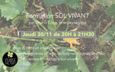 Formation Sol vivant jeudi 30/11/17